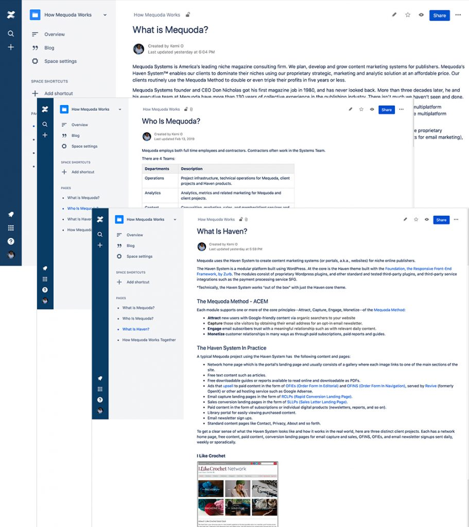 Confluence Wiki Doc